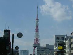 東京タワーが見える町の風景
