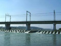 多摩川と鉄橋