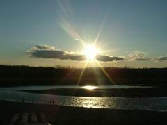 多摩川の夕日☆