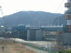 是政橋の橋の工事