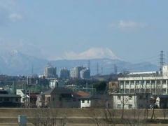 多摩川☆富士山を望
