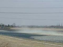 多摩川の砂嵐