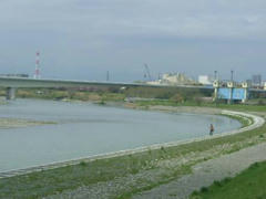 多摩川の定点観測点