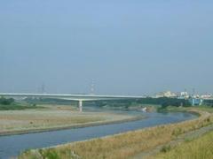 多摩川ぼ風景