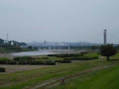 多摩川・是政橋の風景