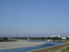 光輝く多摩川