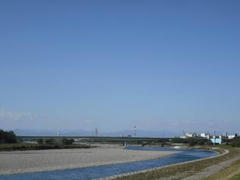 多摩川の風景