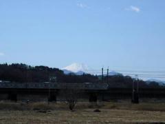 富士山と南武線