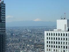 新宿から見える富士山