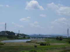 多摩川の遠景