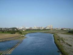 多摩川・空中写真
