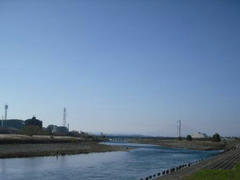 多摩川の輝き☆