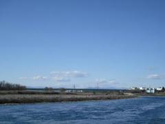 多摩川の藍