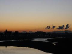 多摩川の初日の出