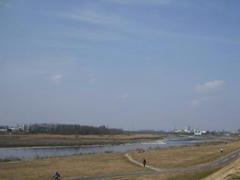 多摩川全景