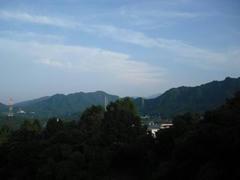 相模湖から見える丹沢山系