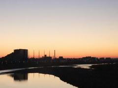 多摩川☆初日の出