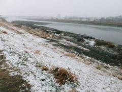 多摩川雪景色
