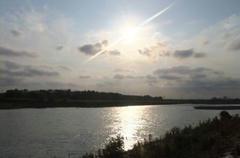 多摩川落日