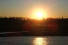 夕日の天体ショー