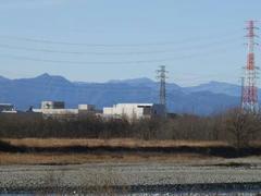 多摩川の四谷付近の風景