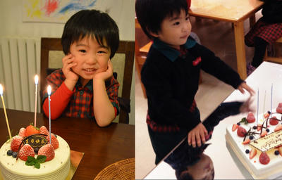 純正三歳のお誕生日