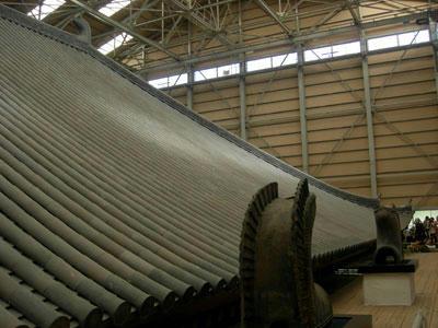 鴟尾と大屋根
