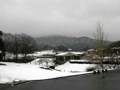 資料館前より---雪景色