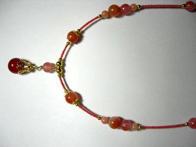 赤瑪瑙のネックレス