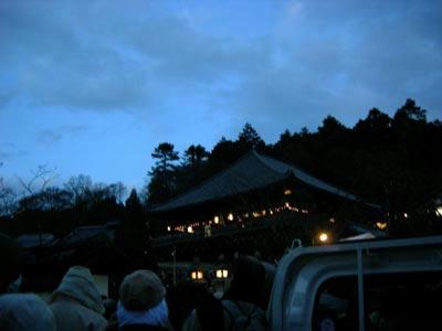 夕刻の観音堂