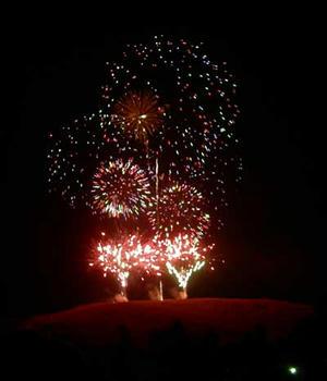 若草山の花火