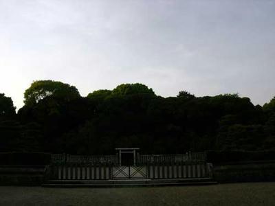 夕暮れ時の柏原御陵