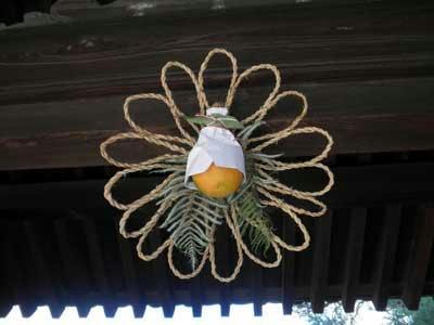 中宮寺の注連飾り