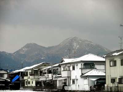 二上山、雪景色