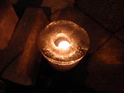 氷室神社 氷献灯の氷の器