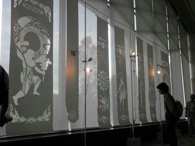 和紙アートのコーナー