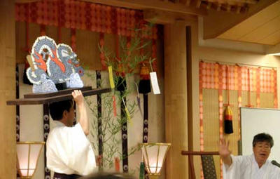 おん祭りに現れる龍のモチーフとして