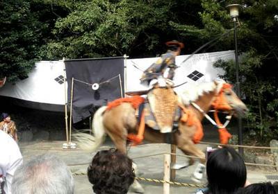 三嶋大社夏祭の流鏑馬