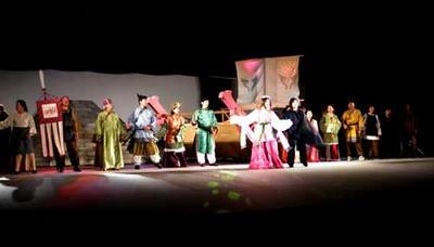 風舞台にて、劇団『時空』リハーサル中