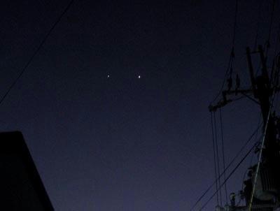 木星と金星……(゜.゜)
