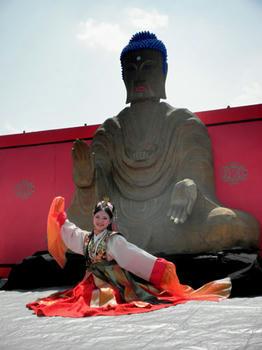 こちらは飛鳥寺の大仏です。