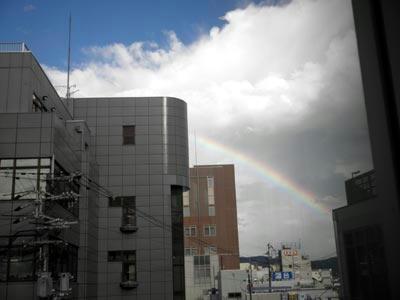 大和西大寺駅から見た虹