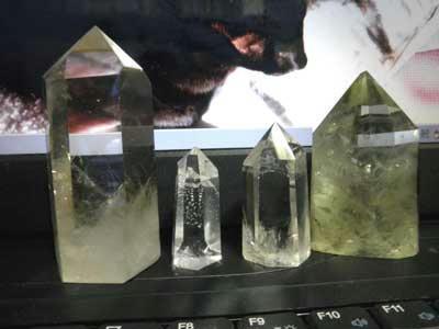 磨きの水晶たち
