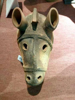 馬形埴輪の頭部