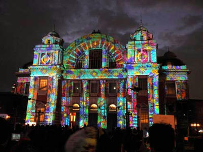 中之島の中央公会堂です。OSAKA光のルネッサンスにて