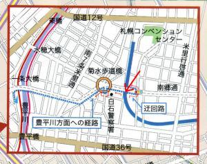 白石サイクリングロード入口地図