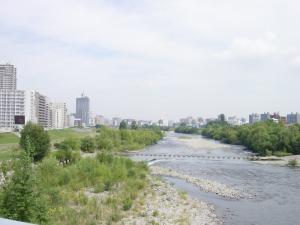 幌平橋から北をのぞむ