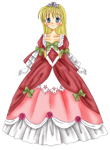 絵は以前から構想のあったドレスが大体形になってきたので描いてみたお姫様習作。 髪型はマリー・アントワネットというかベルばら風の縦ロールにしようと思ってたん