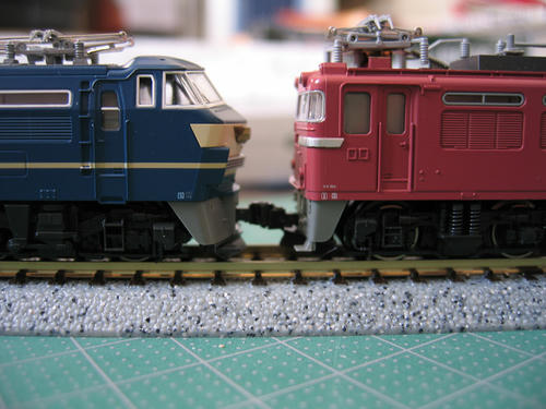 EF66前期形とEF81の連結面