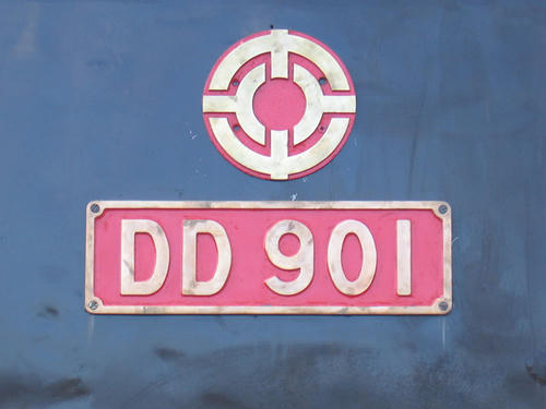 DD901側面ナンバー部分
